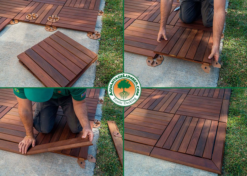 Decking Tiles Installation Ipe Wood Deck Tiles Install