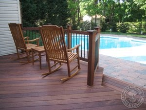 ipe decking with pool