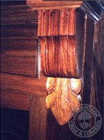 jatoba fireplace detail