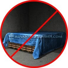 Do not store decking under a tarp or in a garage.