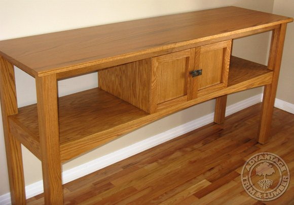 13d0c4d3a79 Above  Red Oak Sidebaord. The top of this sideboard was made with a  edge-glued panel from AdvantageLumber.com®. ...